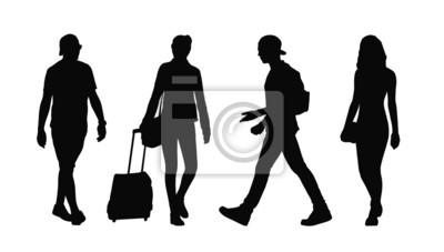 Sagome Persone Che Camminano.Carta Da Parati Persone Che Camminano Sagome Allaperto Immersa 35