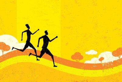 Carta da parati Persone da jogging