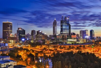 Carta da parati Perth CBD parco alba