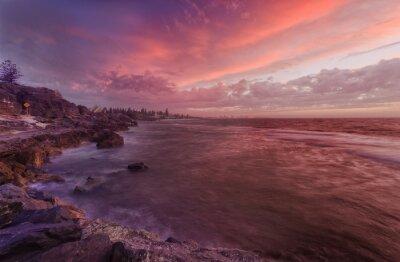 Carta da parati PERTH spiaggia di scogli tramonto