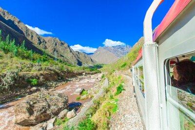 Carta da parati Peru Rail da Cuzco a Machu Picchu in Perù