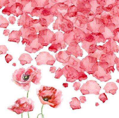 Carta da parati petali di un papavero acquerello