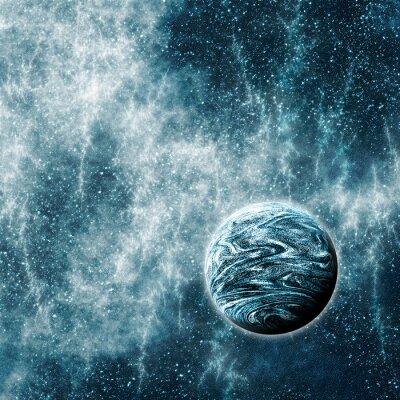 Carta da parati Pianeta extrasolare in Space Time Warped Regione