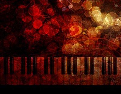 Carta da parati Piano Keyboard Grunge Background Illustrazione