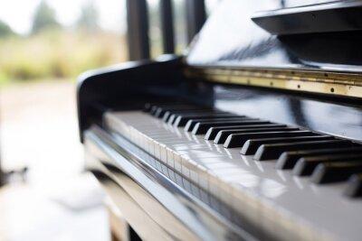 Carta da parati pianoforte è uno strumento musicale è una tastiera e popolare in un kids.