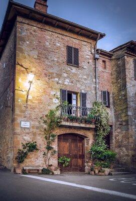 Carta da parati Pienza di notte, Toscana