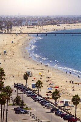 Carta da parati Pier a Long Beach, Los Angeles, California