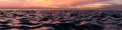 Carta da parati Pink Sunset Panorama su Ocean Waves