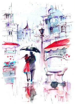 Carta da parati pioggia