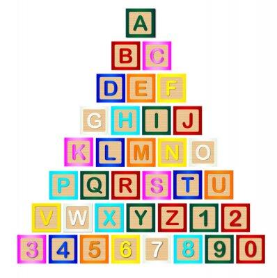 Carta da parati Piramide Lettera Block