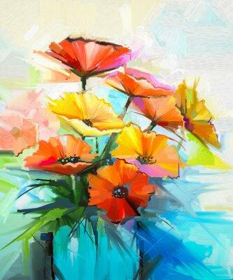 Pittura Ad Olio Fiore Di Primavera Sfondo Ancora La Vita Di Carta