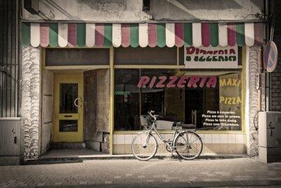 Carta da parati pizzeria