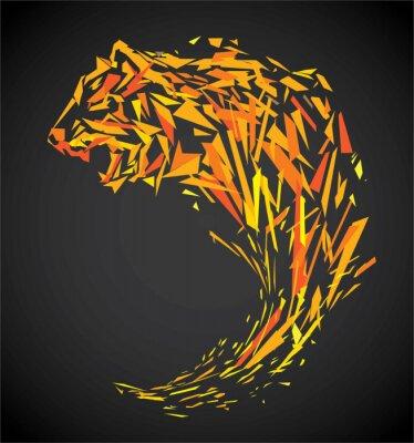 Carta da parati poligono tigre