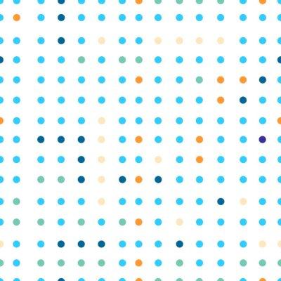 Carta da parati Polka dots vector seamless. Punti di colori diversi.