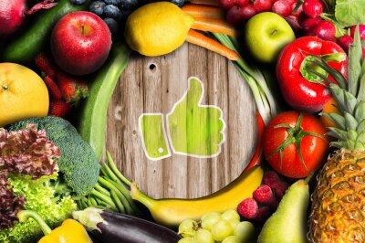 Carta da parati Pollici in su per la frutta e verdura