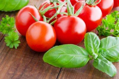 Carta da parati Pomodori e basilico