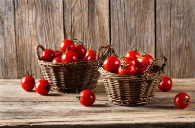 Carta da parati Pomodori in cestini