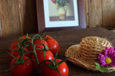 Carta da parati Pomodoro rosso a grappolo Varietà Piccadilly