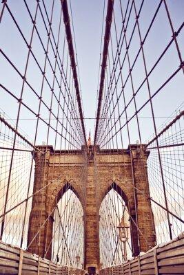 Carta da parati Ponte di Brooklyn a New York