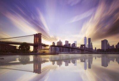 Carta da parati Ponte di Brooklyn al tramonto