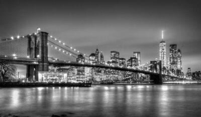 Carta da parati Ponte di Brooklyn al tramonto, New York City.