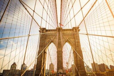 Carta da parati Ponte di Brooklyn e di Manhattan,