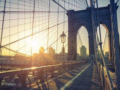 Carta da parati Ponte di Brooklyn New York