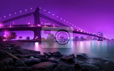 Carta da parati Ponte di Manhattan New York City