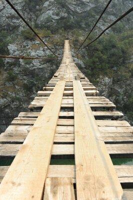 Carta da parati Ponte sospeso nel canyon