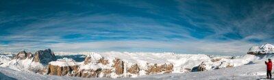 Carta da parati Pordoi Dolomiti italiane paesaggio panorama