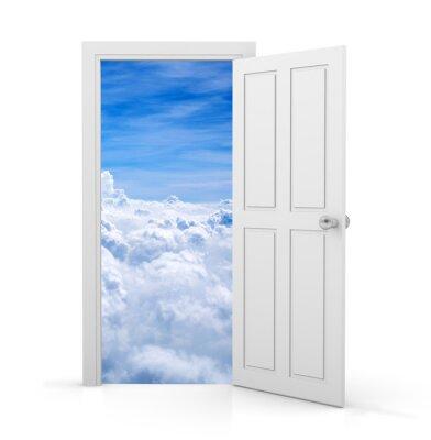 Carta da parati porta aperta
