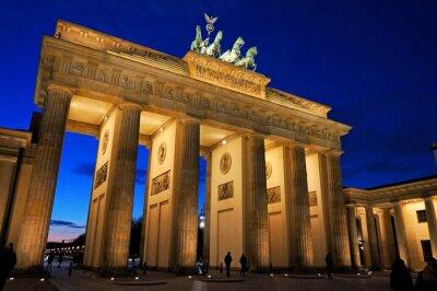 Carta da parati Porta di Brandeburgo a luce della sera
