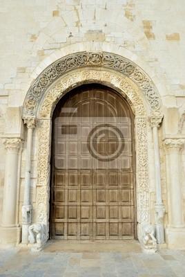 Carta Da Parati Per Porte.Porta Di Entrata Facciata Principale Cattedrale Di Trani Carta Da