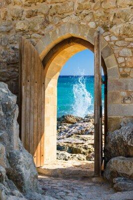 Carta da parati porta mare aperto