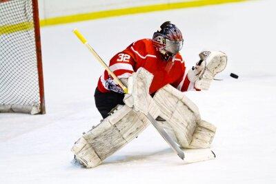 Carta da parati Portiere di hockey in apparecchiature generiche rosso protegge cancello