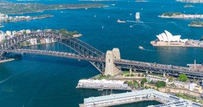 Carta da parati Porto di Sydney. Splendida vista aerea su una giornata di sole