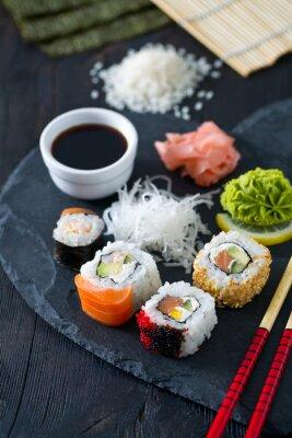 Carta da parati preparazione di sushi