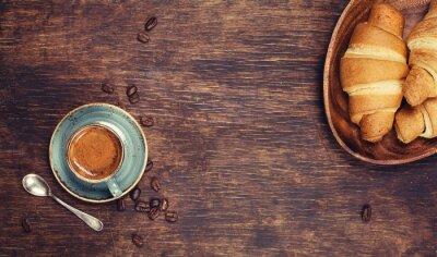 Carta da parati Prima colazione con caffè e cornetti