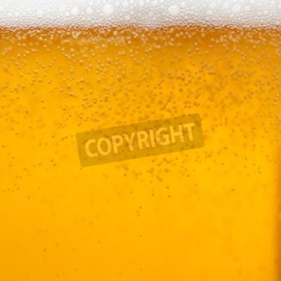 Carta da parati Primo piano di un bicchiere di birra