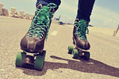 Carta da parati primo piano di un pattinaggio giovane, con un ef cross-trasformati