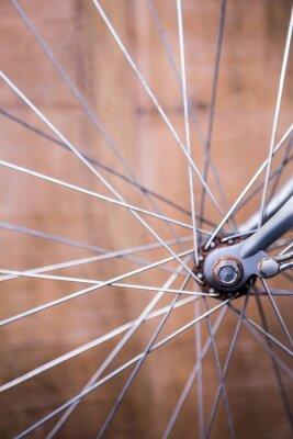 Carta da parati Primo piano vista di raggi della ruota di una bicicletta