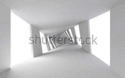 Carta da parati Priorità bassa astratta 3d con il corridoio a spirale bianco attorcigliato