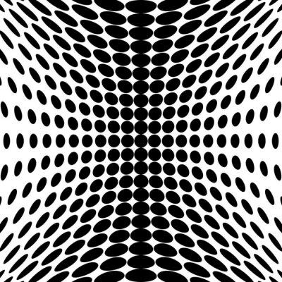 Carta da parati Progettazione puntini in bianco e nero di sfondo