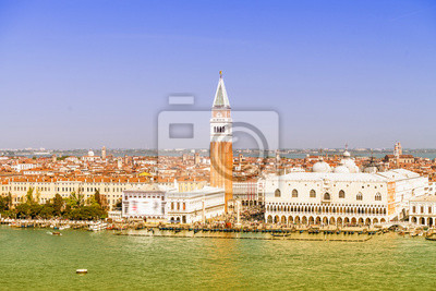 Carta da parati Punto di riferimento di Venezia, veduta aerea di Piazza San Marco o San Marco squa