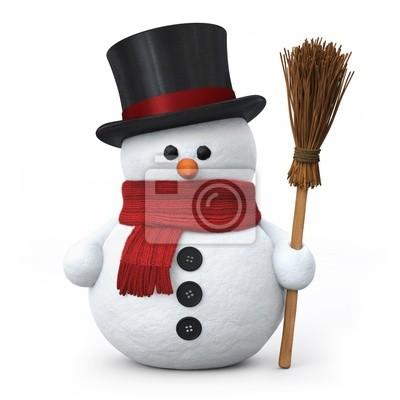 Pupazzo di neve con cappello e scopa carta da parati • carte da ... a53b92ba76dd