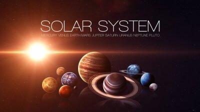 Carta da parati qualità Hight isolato pianeti del sistema solare. Elementi di questa immagine fornita dalla NASA