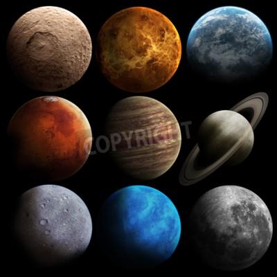 Carta da parati qualità Hight pianeti del sistema solare.