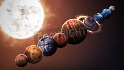 Carta da parati qualità Hight pianeti del sistema solare. Elementi di questa immagine fornita dalla NASA