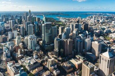 Carta da parati quartiere degli affari di Sydney Central dall'aria