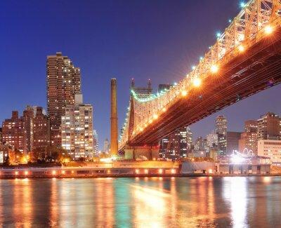 Carta da parati Queensboro Bridge e Manhattan